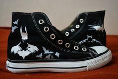 02db9eae564904 Batman Hand Painted Shoes Batman High-top Painted Canvas Shoes