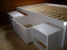 Stauraumbett ikea  Desperately needed space. In order to increase the storage in my ...
