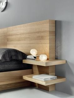 Oak double #bed FLYER - Domus Arte