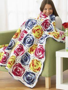 Circles Throw | Yarn | Crochet Patterns | Yarnspirations