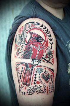 Cardinal Tattoo by David Hale