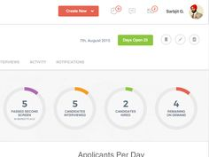 Crossover Recruitment Dashboard UI Design Second Version by TWS