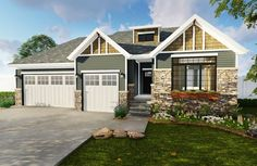 Compact 3 Bed Home Plan - 62501DJ | 1st Floor Master Suite, Butler Walk-in Pantry, CAD Available, Craftsman, Narrow Lot, Northwest, PDF, Split Bedrooms | Architectural Designs