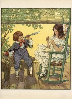 1930 illustration by Clara M. Burd, via Etsy.