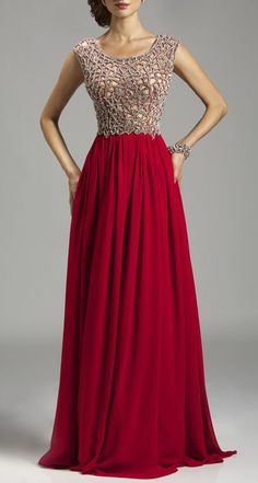 Lara Prom Crystal Beaded Gown