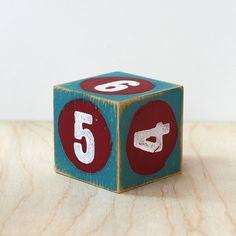 wooden dice art block modern rustic home decor by 645workshop