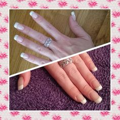 Gel polish Natural French manicure