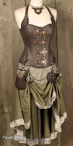 Safari Steampunk Anyone? Steampunk is a rapidly growing subculture of science fiction and fashion. Pirate Steampunk, Steampunk Skirt, Style Steampunk, Steampunk Cosplay, Steampunk Diy, Steampunk Clothing, Steampunk Fashion, Gothic Fashion, Steampunk Outfits