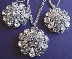 "Weddings, Necklace and Earring Set, ""Vintage Romance"""