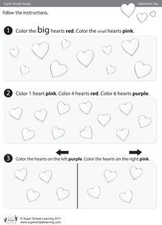 Skidamarink Worksheet – Color The Hearts | Super Simple