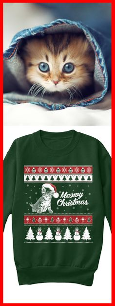 Meowy Christmas Sweatshirts now available! Exclusive design only sold here, available also in tee's and hoodies. Click image to see more colors.