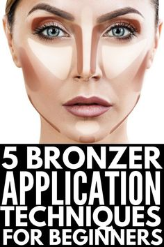 How to Use Bronzer | 5 step by step tutorials to teach you how to apply bronzer (and blush) for a sexy summer glow! Whether you have an oval or round face, fair skin, olive skin, or dark skin, these videos for beginners will teach you how to bronze your cheeks for a natural contour look. We're also sharing the best contour makeup products for every skin tone! #contour #contouring #highlight #makeup #makeuptips #makeuphowto