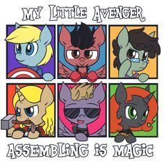 My Little Avenger: Assembling is Magic by =ecokitty on deviantART--Bruce Banner is best pony :)