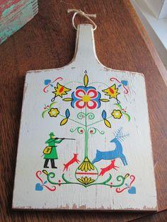 Vintage Dutch Folk Art Cutting Board