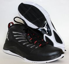 Nike Jordan Prime Fly 2 Men's Basketball Shoes 654287 020 Black/White Size  11 #