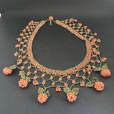 [sc [sc Orange bead choker valentine's day gift fashion jewelry [sc Crochet Hairband, Bead Crochet, Crochet Collar, Beaded Choker, Beaded Jewelry, Diy Necklace, Crochet Necklace, Crochet Accessories, Valentine Day Gifts