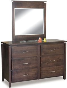 33% OFF Amish Furniture - Hand Crafted Shaker and Mission Furniture Online Outlet Store: Jacqueline Dresser w/Mirror: Oak