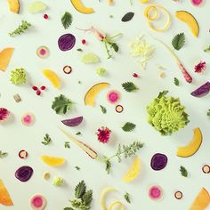 Lovely pattern made with food, by Julie Lee.