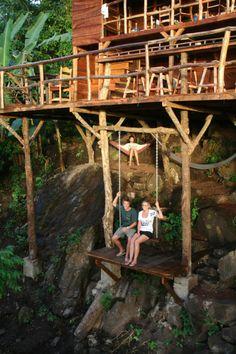 treehouse swing in Granada #Nicaragua