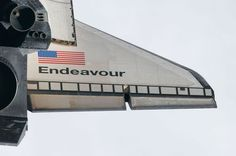 The last time Endeavour's wing will ever be seen in space. Sadddd