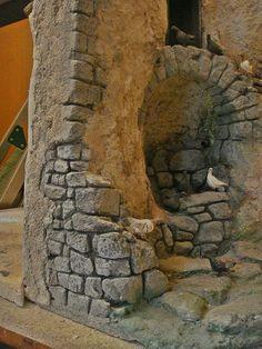 Foro de Belenismo - Arquitectura y paisaje -> caño de piedra y ruinas