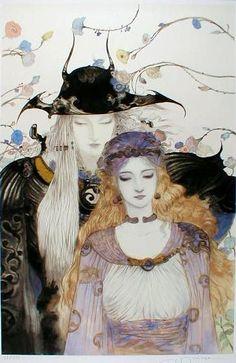 花と騎士 : 天野喜孝 Amano Yoshitaka Illustration Gallery