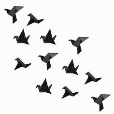 Oiseaux en origami.