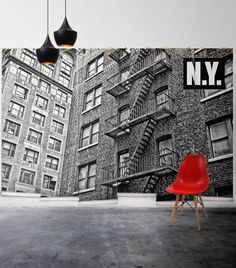 Why not a mural? Try Robert Harrison's NY Apartment mural for your living room walls to make a statement!  https://au.miltonandking.com/ny-apartment