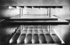 STABILIMENTO BIRRA PORETTI, MAGAZZINO Mestre (VE) – 1962 Architettura: Angelo Mangiarotti Strutture: Aldo Favini