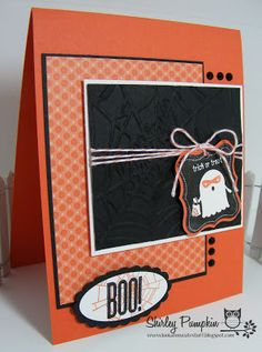 Card with Spooky Bingo bits, Wicked Cool and Tricky Treats Stamp sets. Stampin' Up! Halloween card by Shirley Sumption aka Pumpkin. :)
