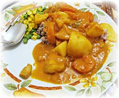 Having been born in Singapore to parents who were quite fond of curry and other spicy foods, it's probably not surprising that I have gr. Food Pyramid, Chicken Curry, Spicy Recipes, Thai Red Curry, Singapore, Meat, Vegetables, Ethnic Recipes, Image