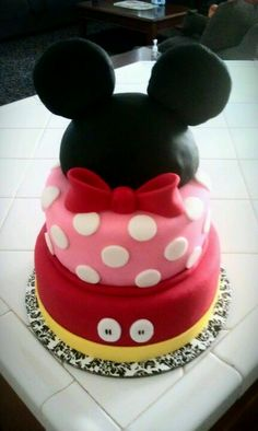 Is it a Mickey or Minnie?? Baby shower cake...