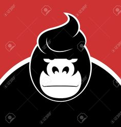 Serious Face Gorilla With A Stylish Hairdo. Royalty Free Cliparts, Vectors, And Stock Illustration. Image 20465043.