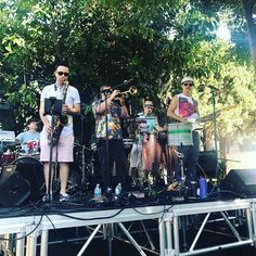 Delta Nove doing their final pre-show sound check! Make your way down to Plummer Park for today's 5pm Summer Sounds Concert!  #WeHoArts