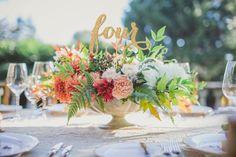 Table Numbers Wedding Table Number Table by JuliesElegantCrafts