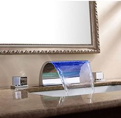 "Bathroom Faucet Amazon 12"" oil rubbed bronze waterfall bathroom sink faucet vessel one"