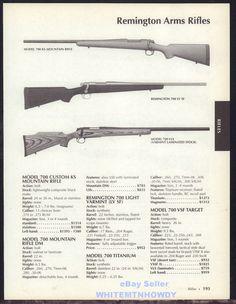 2005 REMINGTON Model 700 KS Mountain, LV SF & VLS Rifle AD #Ruger