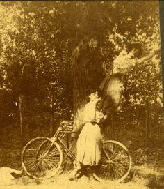Stealing fruit, ca 1900.