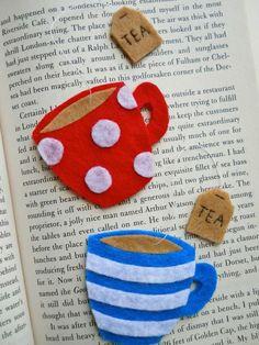 #teacup #tea #cup #bookmark #sweet #diy #book #kendinyap #kitapayracı Keçeden sayfa aralığı.