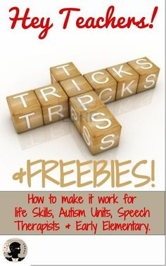 NoodleNook.Net- Tips, Tricks, and Freebies for Teachers in LIFE Skills, Autism Units, and Elementary Ed. Pin It Now!