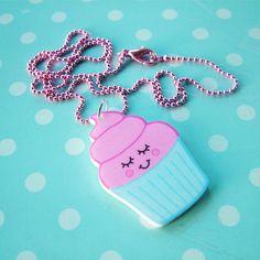 Cupcake Kawaii Acrylic Necklace As seen on by HoobynooWorld