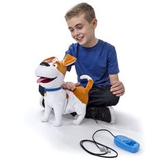 The Secret Life of Pets Movie Friend Max Plush Talking Walking Dog Toy Xmas Gift #SecretLifeofPets