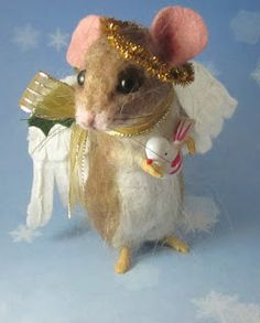 Needle Felted Art by Robin Joy Andreae: Angel