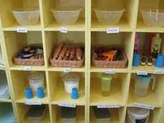 Malleable area at Kidsunlimited Barrow set up so that making their own play dough is accessible every day to to the children
