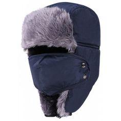 ca2afbf3495 Men Winter Collar Cap Outdoor Cold Riding Ski Windproof Winter Hat - BLACK Men s  Cycling