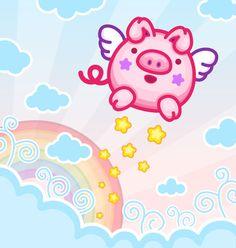 Flying piggy! ^.^
