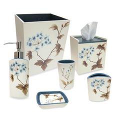 Croscill® Christina Bath Collection in Blue - BedBathandBeyond.com