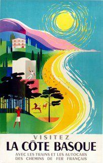 La Côte Basque Travel Poster
