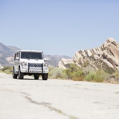 Talk about a rock star: At our next location, along the San Andreas Fault in San Bernadino, the incredibly capable G550 struts its stuff. Over three decades of production, the G-Class has taken on iconic status as one of the most coveted vehicles on and off the road.  #MBPhotoPass #Mercedes #Benz #GClass #G550 #SUV #BehindTheScenes #carsofinstagram #instacar #germancars #luxury #CA #California