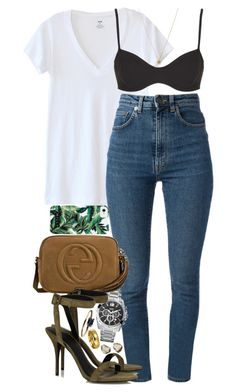 """""""Never argue with stupid people, they will drag you down to their level and then beat you with experience."""" by quiche ❤ liked on Polyvore featuring LnA, Topshop, Yves Saint Laurent, GUESS, Gucci, Gogo Philip, Alexander Wang, Siman Tu, Bling Jewelry and LUMO"""
